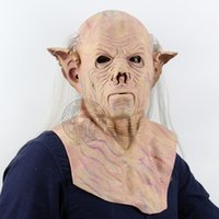 Wholesale Accessories Pharaohs - Shaped Pharaoh aliens scary full set of latex mask Halloween bar haunted house dress up props