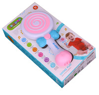Wholesale Loop Rod - Lollipop swing musical toys piano Music Toys eight scales loop,drum set educational toys with light