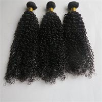 Wholesale Tangle Free Weave - 100% Virgin Human Hair Kinky Wave Remy Hair Hair Wefts Unprocessed Natural Color 8-34 inch Customize Tangle Free 5