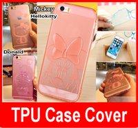 Wholesale Iphone Donald - Hello Kitty Donald Mickey Case for iPhone 5s Soft TPU Transparent Clear Back Cover Case Cartoon Mobile Phone Case
