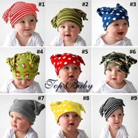 Wholesale Newborn Elf Hats - 2015 new Autumn winter baby hat cap super cute Baby elf hat, striped pattern little infant child modeling cap [SKU:A555]