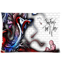 Wholesale Music Pillow Cases - Cool Pillowcase Music Band Pink Floyd Style Pillow Case (Twin Sides)(20x30 Inch)