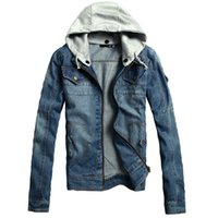Wholesale Korean Winter Clothes For Men - Special factory explosion models fall and winter clothes for male Korean men's denim clothing denim jacket Slim denim jacket M