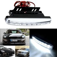 Wholesale Daytime Driving - Gofuly New Arrival Quality 8 LED Round Daytime Driving Running Light DRL Car Fog Lamp Freeshipping Wholesale Hot