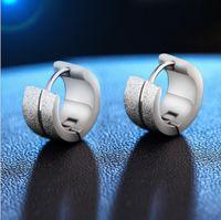jewlery ohrringe großhandel-Mode Ohrstecker Schmuck Edelstahl Ohrringe Jewlery Für Frauen Beste Geschenk Scrub Runde Form Ohrringe Jewlery 82F105