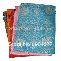 Wholesale Extra Large Gift Bags - Luxury Extra Large Silk brocade Drawstring Gift Bags Reusable Packaging Pouch 14.5 x 11 inch 10pcs lot mix color Free shipping
