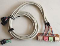 eu conecto venda por atacado-NOVO PC Computador Desktop DIY host caso Frente I / O Painel USB 2.0 AUDIO Microfone MicroPhone fone de ouvido 3.5mm plugue cabo cabo Frete Grátis