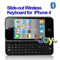 Großhandels-Bluetooth 2.0 Ultra-dünne Slider-Wireless-Tastatur für Apple iPhone 4 / 4S (schwarz)