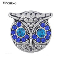 Wholesale Blue Owl Jewelry - Vocheng NOOSA Ginger Snap Jewelry Owl Style Crystal Interchangeable Jewelry Accessories (Vn-344)