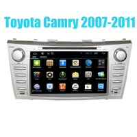 2 Din GPS del coche Quad Core Android Multimedia Bluetooth para Toyota Camry 2006 2007 2008 2009 2010 2011 Coche DVD con CD 1024 * 600