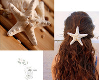 Wholesale Starfish Hair Jewelry - HOT SALE fashion jewelry fine 100% natural seashells starfish hairpin Hair accessories women's hairpin hot sale! 20pcs RS