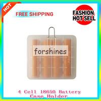 Wholesale Cheap Vapor Batteries Wholesale - 50pcs,cheap Ecigs ecig Plastic Battery Case Box Holder Storage Container pack hanger hook 4X 18650 18350 CR123A 16340 vapor mod batteries