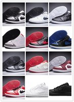 Wholesale Pu Golf Balls - New 2017 release RETRO air joNdon 1 Low Fly shoes Royal Mens basketball Tennis Golf Ball sports Shoes wholesale price Sneakers sz 40-46