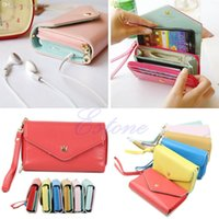 Wholesale Multifunctional Galaxy S3 Case - Wholesale-Free Shipping Multifunctional Envelope Purse Wallet Phone Case for iPhone 4s 5 Galaxy S2 S3