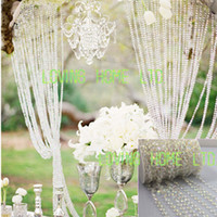 Wholesale Decor Bead Strands - 30Ft 10Yards Iridescent Garland Diamond Strand Wedding Tree Centerpiece Hanging Acrylic Crystal Bead Curtain Chains Christmas Decor