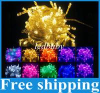 ingrosso luci di stringa bianca blu-50M 500 LED catena fata String Lights Viola Rosa MultiColor Bianco caldo Rosso Giallo Blu 164FT 220V Decorazione Luce per Natale vacanza