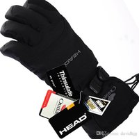 Wholesale Snowboard Gloves Waterproof - New brand men's ski gloves Snowboard gloves Snowmobile Motorcycle Riding winter gloves Windproof Waterproof unisex snow gloves