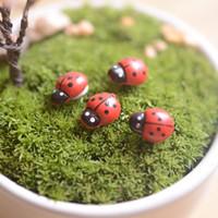 Wholesale Fairy Moss - Artificial mini lady bugs insects beatle fairy garden miniatures gnome moss terrarium decor resin crafts bonsai home decor for DIY Zakka