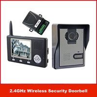 "Wholesale Wireless Video Intercoms Homes - New Brand 2.4GHz Wireless 3.5"" Color Video Door Phone Intercom Home Security Doorbell free shipping"
