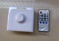 interruptor pir 24v al por mayor-Interruptor 110V 120V 220V 240V 300W 8A IR Knob PWM Triac LED Dimmer Para E27 GU10 Foco Focos
