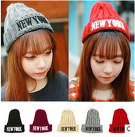 Wholesale Men Tie Buy - Buy Fashion New York Wool Hat Knitting Hat Fashion Winter Warm Beanies For Men and Women Knitted Hat Free Shipping #S0749