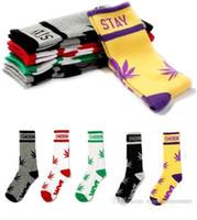 Wholesale Long Socks For Women - 24pc=12pairs DGK socks for men and women leaf socks Hip hop fashion sports long skateboarding socks