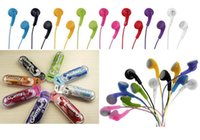 Wholesale ha shipping - 3.5mm HA-F150 for iphone 5 Gummy In-Ear earphone Headphones Headset for MP3 MP4 PSP Colorful 8color DHL free shipping