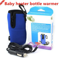 Wholesale Milk Heater - Portable Car Heater Bottle Warmer Travel Baby Food Milk Bottle Warmer Heater 12V Mini Linear Temperature Programmer Universal