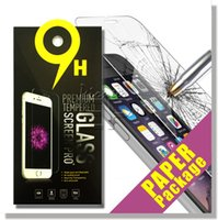 Wholesale Tempered Glass Anti Shatter - For Iphone 8 7 Tempered Glass Screen Protector For Iphone 7 Plus Iphone 6 S6 LG Aristo Stylo 3 0.26mm 2.5D 9H Anti-shatter Paper Package