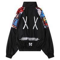 Wholesale Black Boyfriend Jacket - womens bomber jacket women plus size jackets for woman oversized boyfriend outerwear harajuku casual embroidery top black white