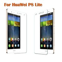 Wholesale Oleophobic Screen Coating - Wholesale-9H Arc Tempered Glass For huawei P8 lite Screen Protector Oleophobic Coating Explosion-Proof Protective Film Free shipping