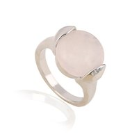 Wholesale Plants Supports - Hot Good Quality Natural Stone Rose Quartz 25 PCS Per Lot Rings Support Mixed Natural Ring for Women