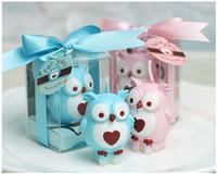 kerzen baby souvenir großhandel-2015 neue personalisierte Hochzeit Gefälligkeiten und Geschenke für Gäste Souvenirs Baby Shower Geburtstag Teil Eule Kerze