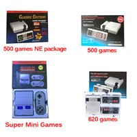 Wholesale Usb Systems - Super Mini TV Video Handheld Game Console Entertainment System Built-in 500 Classic Games 620 Classic game with 2 Controllers