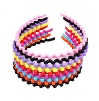 Wholesale Wholesale Indian Headdress China - Korean jewelry wholesale candy-colored small wave of instant noodles plastic headband children headband headdress D315