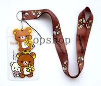Wholesale Card Rilakkuma - Wholesale ! 50pcs HOT CARTOON Rilakkuma Lanyard Neck Strap ID Card Badge   Mobile P Holder