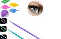 extensões individuais de cílios sintéticos venda por atacado-2000 pcs Make Up Brushes Sintético Durável Micro Aplicável Extensão Dos Cílios Aplicadores Mascara Escova