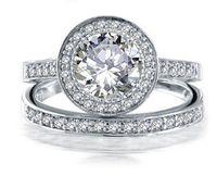 Wholesale Diamond Round Cut - Luxury Size 6-10 Band round cut jewelry 10kt white gold filled topaz simulated diamond women Wedding Ring set gift with box