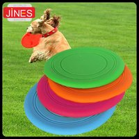 Wholesale Dog Flexible - 5pcs New Soft Flying Flexible Disc Tooth Resistant Outdoor Large Dog Puppy Pets Training Fetch Toy Silicone Dog Frisbee