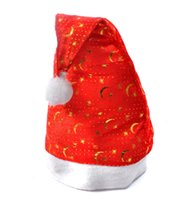 Wholesale Merry Christmas C - Christmas Hats Pleuche fabrics hats Santa Caps MERRY CHRISTMAS SANTA CLAUS HAT CAP Christmas decorations free shipping- 0008-50CHR
