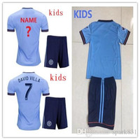 TOP qualità Bambini Bambini New York City Soccer Jersey 17/18 T-shirt calcio Bambini Youth Boys NYC Home Pirlo Camiseta de futbol David Villa