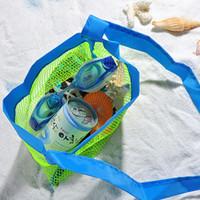 ingrosso sacchetto di pannolino per giocattoli-Wholesale-Applicata Enduring Bambini sabbia via spiaggia borsa a rete Bambini Giocattoli da spiaggia Vestiti Asciugamano borsa bambino giocattolo collezione pannolino Pieghevole