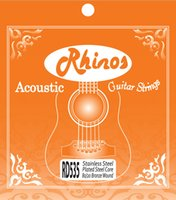 Wholesale Bronze Acoustic Strings - Rhinos Acoustic Guitar String 80 20 Bronze Wound RD535SL .011-.052 Super Light