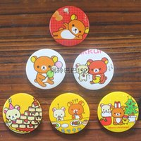 Wholesale Bear Works Clothes - Japan rilakkuma metal tin badge badge buckle easily bear cartoon animation decorative Brooch