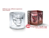 Wholesale Wine Cup Packaging - Hot Special Transparent Crystal Skull Head Shot Glass Cup For Whiskey Wine Vodka Home Drinking Ware with retail package