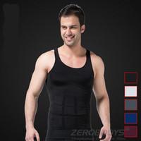Wholesale Sleeve Shirt Body Shaper - Mens Slim Body Shaper Belly Fatty Underwear Vest Shirt Corset Compression Tops
