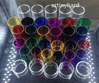 Wholesale Spiral Glass Tube - Pyrex Replacement glass tubes for Smok nano tfv4 Spirals plus vape pen 22 plus brit beast mini flavor minos sub tank Skyhook RDTA