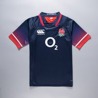 Wholesale English Cotton - New 2017 English national rugby shirts home white rugby size S-3XL England rugby Jerseys sevens home jerseys top quality