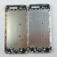 châssis iphone 5s achat en gros de-Pour Apple iPhone 5 5S 5G se Retour Pile Couverture Porte Arrière Logement Cas Moyen Châssis Remplacement pour iPhone 6 6 s 6 Plus 6 s Plus