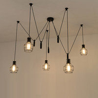 Wholesale Hanging Pulleys - spider pendant lights led spider light modern lamp single pulley pendant light ceiling hanging lamp contemporary pendant lamps rope hanging